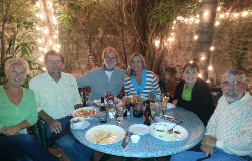 Laurie, Dan, George, Jackie, Cathie and Tom at Harry's St. Augustine.