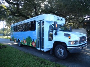 We have a free bus that takes to you to the beach and everywhere in Vero.  It's great!
