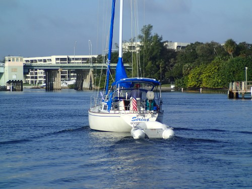Sirius/Harry and Fran heading to the Federal Bridge in Jupiter, FL